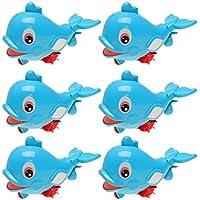 Perfk 6個セット 赤ちゃん 浮遊イルカ 水スプレーセット ふり遊びおもちゃ プラスチック製