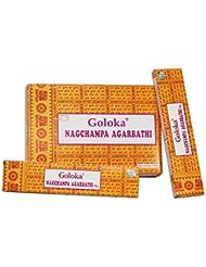Goloka Nag Champa お香スティック Agarbatti 192グラムボックス | 16グラム入り12パック | 輸出品質