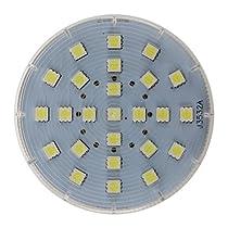 SODIAL(R)GX53 25 LED 5050 SMD 4W 6500K白いの天井のダウンライト、シーリングライト、電球