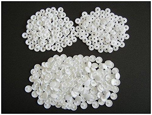 プラスチック スナップ ボタン プラスナップ 白色 100組 12mm T5