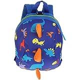 Kids Toddler Backpack Anti-Lost Dinosaur Schoolbag Cartoon Baby Safety Harness Lightweight Toddler Children Gift(Dark Blue)