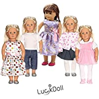 luckdoll 5 Piece Lovely人形Clothes Fits 18インチAmeican Girl Dolls Best Gift For Every Angel