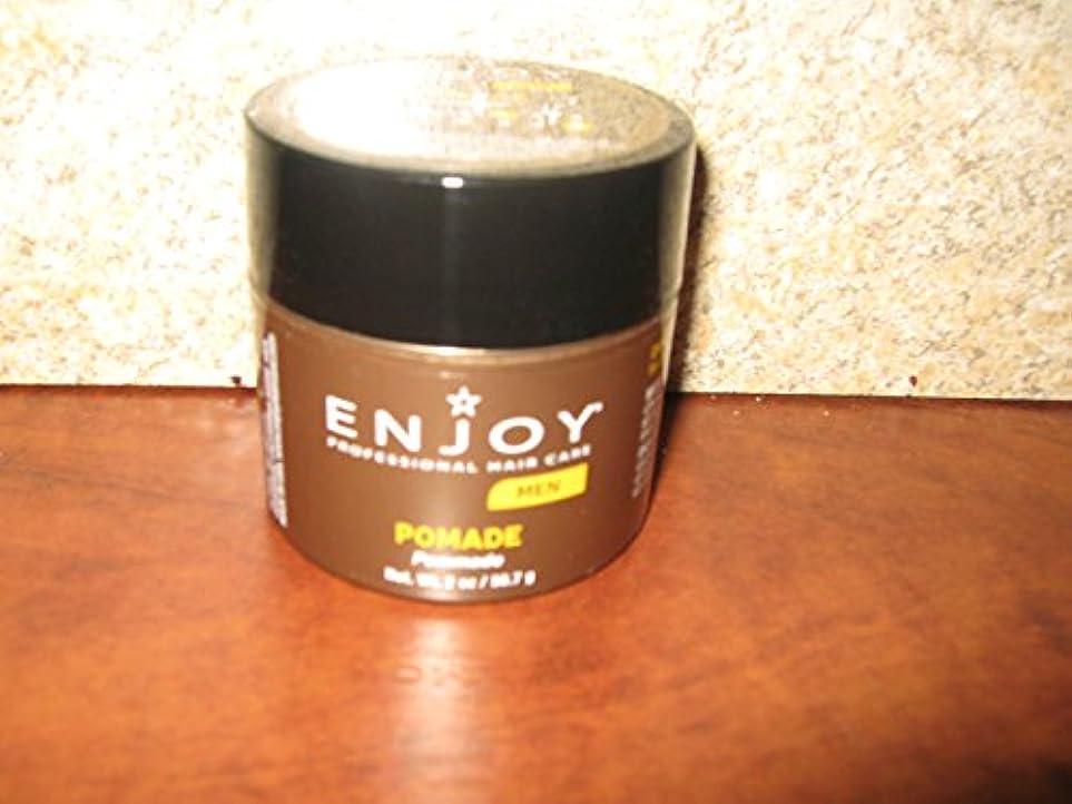 信頼性本物の促進するEnjoy メンズヘアーポマード(60グラム)をお楽しみください
