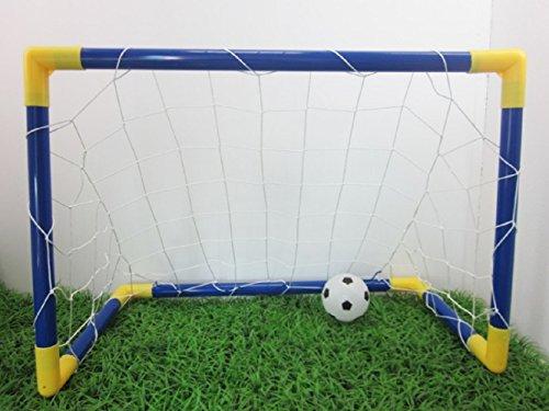 Four Piece 折りたたみ サッカー ゴール セット 90×60cm フットサル 簡単収納 サッカーセット 子供用 練習 ミニボール付き 大きめ デザイン