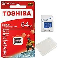 東芝 Toshiba 超高速U3 アプリ最適化A1 4K対応 microSDXC 64GB + SDアダプター + 保管用クリアケース [並行輸入品]