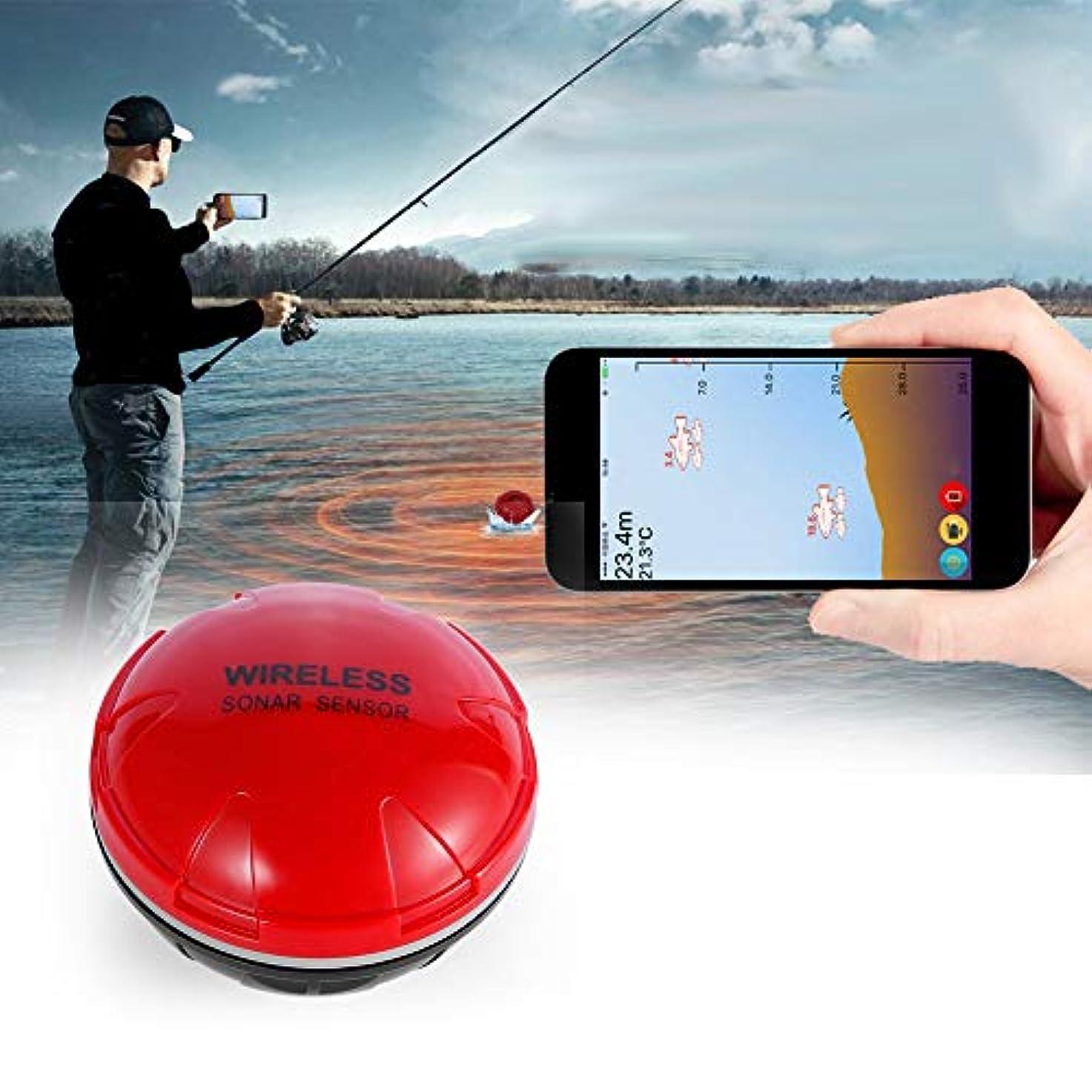 競争力のある絶滅外側無線ソナーの魚のファインダー、カヤック/氷/ボートの釣のための iOS 及びアンドロイド電話の APP が付いている改善された釣ギヤ携帯用無線 Bluetooth の魚のファインダー