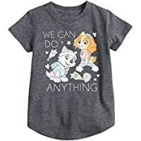Jumping Beans Toddler Girls 2T-5T Paw Patrol Skye & Everest We Can Do Anything Glittery Graphic Tee
