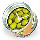BRISA ブリサ MyClock Olive マイクロック オリーブ 缶詰スタイルのデザインクロック、サプライズ ギフトに最適です! !  46335-1