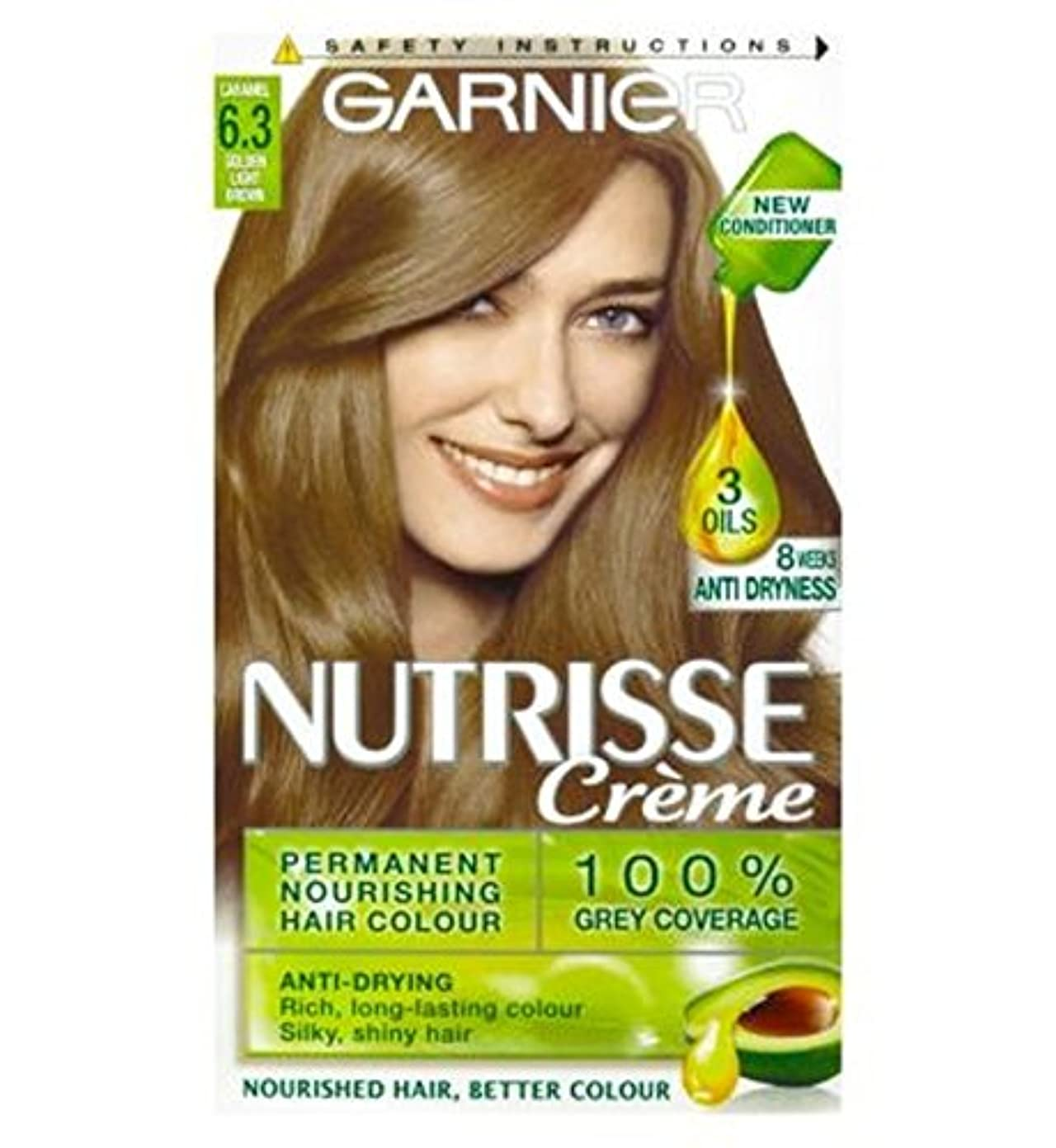 山積みのドロー限られたガルニエNutrisseクリームパーマネントヘアカラー6.3キャラメルライトブラウン (Garnier) (x2) - Garnier Nutrisse Cr?me Permanent Hair Colour 6.3 Caramel Light Brown (Pack of 2) [並行輸入品]