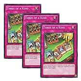 ★ 3枚セット ★遊戯王 英語版 REDU-EN077 Three of a Kind スリーカード (ノーマル) 1st Edition