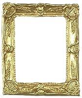 ドールハウスミニチュア装飾ゴールドフレームby Falconミニチュア
