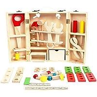 【 Alnair 】 子どもに 人気な 大工さんセット 18点 セット 木のおもちゃ 幼児 キッズ 組み立て 知育 おもちゃ 3歳 知育玩具 誕生日 クリスマス 【 プレゼント 】