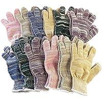 日本製 カラー軍手 6色 カラー手袋 12組セット 1ダース(12双)