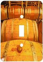 3drose LSP _ 191826_ 1アメリカ、ワシントン、Yakima ValleyワインMatures in The Barrel部屋ライトスイッチカバー