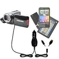 GomadicマルチポートMini DCオート/車充電器と互換性Toshiba Camileo x100HDビデオカメラ–1つ充電器with 2つのデバイスの接続を使用してアップグレード可能TipExchange