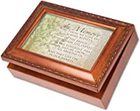 Cottage Garden In Memory Woodgrain Music Box / Jewellery Box Plays Wind Beneath Wings