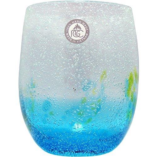 琉球ガラス 泡花見グラス 水
