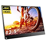 cocopar 12.5インチ/4K adobe100色域 HDR/モバイルモニター/モバイルディスプレイ/薄型/IPSパネル/USB Type-C/標準HDMI/mini DP/保護カバー付/580g/3年保証