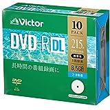 ビクター Victor 1回録画用 DVD-R DL CPRM 215分 10枚 片面2層 2-8倍速 VHR21HP10J1