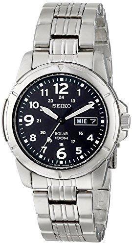 [セイコー]Seiko 腕時計 Black Solar Power Dial GMT Watch SNE095P1 メンズ [並行輸入品]