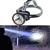 Eornmor超強力3000ルーメン充電式LEDヘッドライト防水アウトドアー夜釣り工事作業 防災グッズ