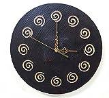 アジアン 雑貨 バリ ♪スパイラル壁掛け時計♪ おしゃれ インテリア エスニック ウォールクロック 丸 円形