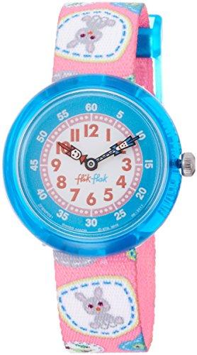 [フリックフラック]Flik Flak キッズ腕時計 キャンピング・バッジ・ピンク FBNP091 ガールズ