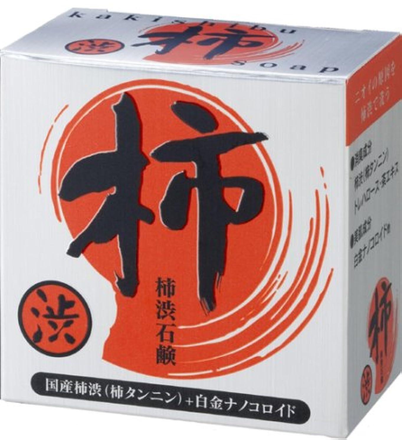 圧縮するボイド注釈プロアクティ 純国産柿渋石鹸 100g 白金ナノコロイド配合!