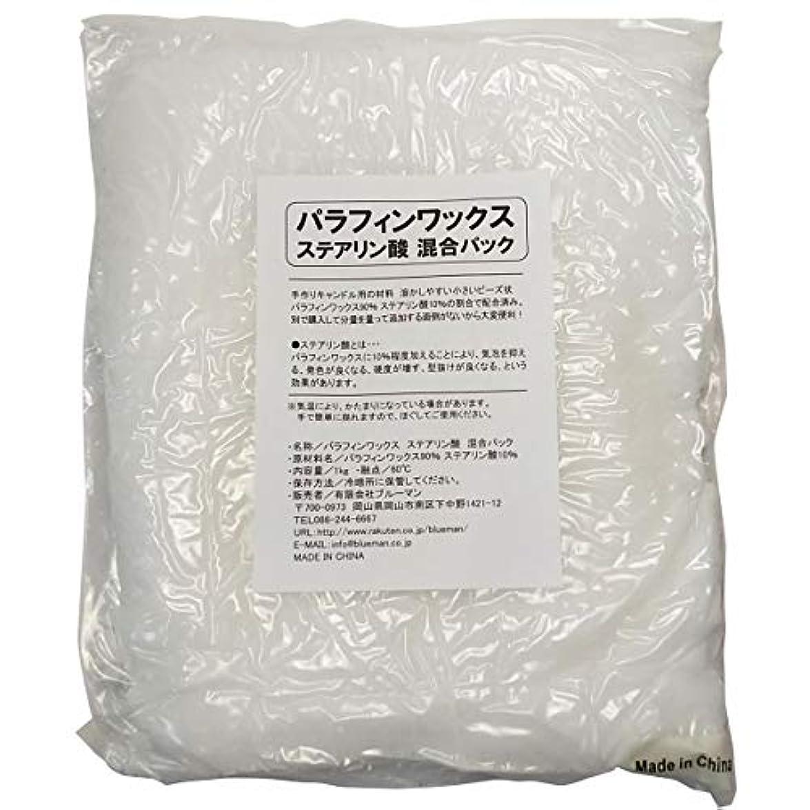 サークルのためそれるパラフィンワックス ステアリン酸 混合パック 1kg 手作りキャンドル 材料 1キロ アロマワックスサシェ