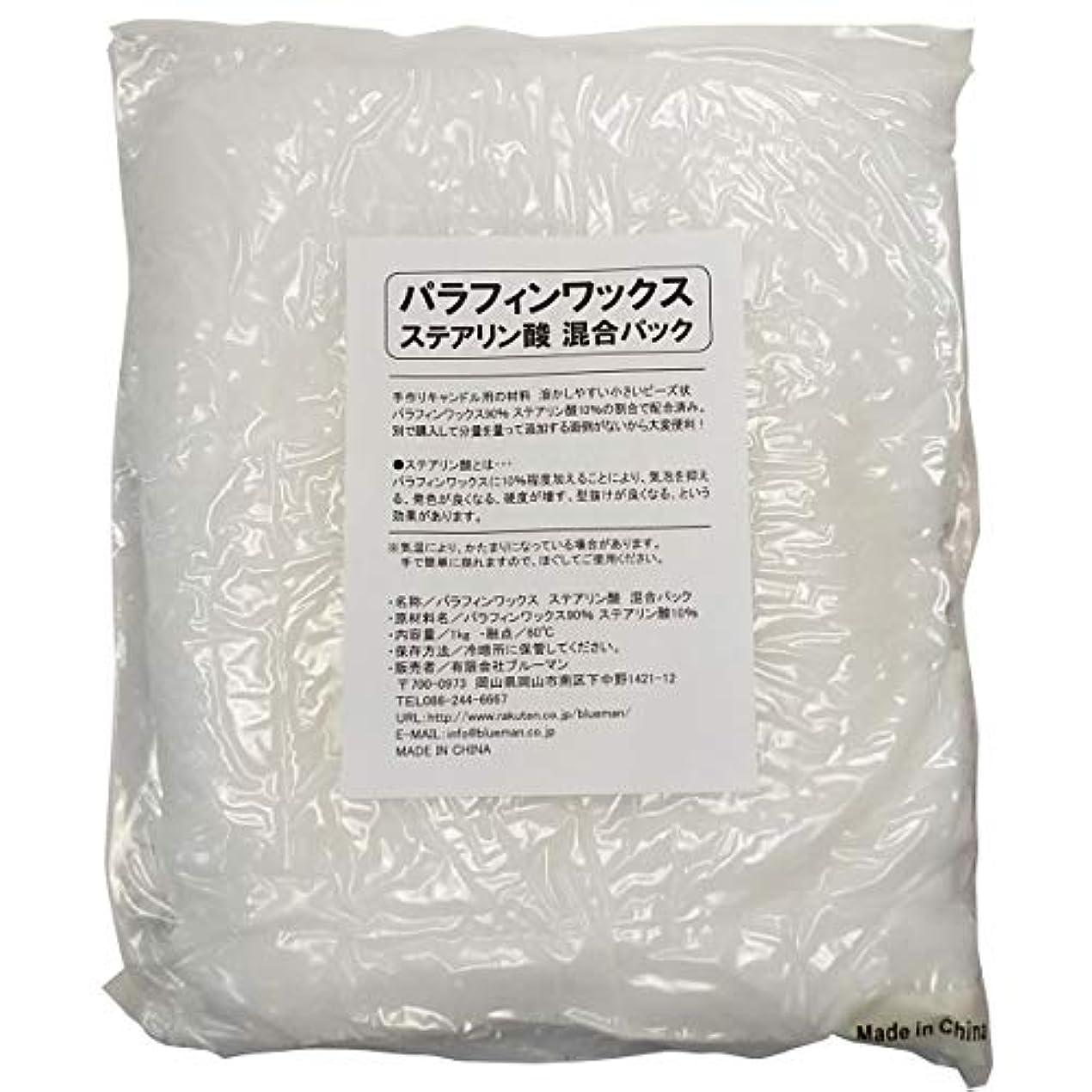 作業瞑想的雄弁家パラフィンワックス ステアリン酸 混合パック 1kg×20袋【20kg 手作りキャンドル 材料 20キロ】