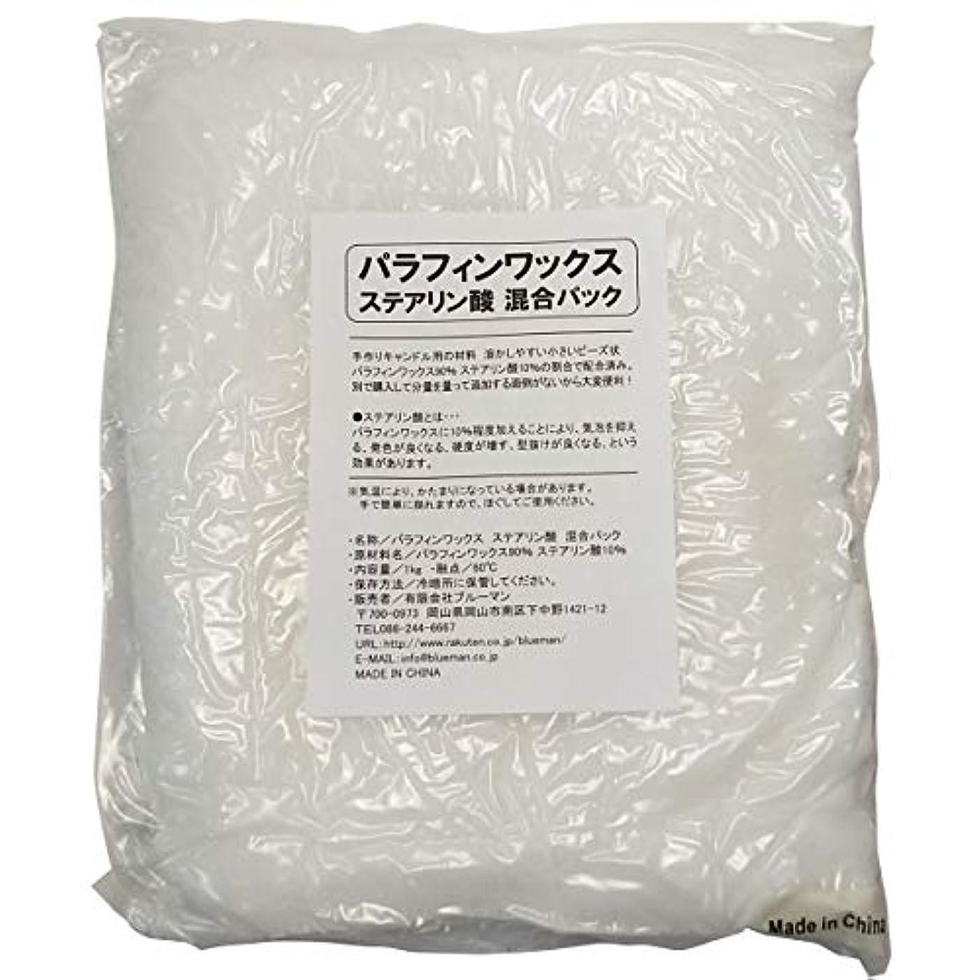 封筒雪だるまを作る必需品パラフィンワックス ステアリン酸 混合パック 1kg 手作りキャンドル 材料 1キロ アロマワックスサシェ