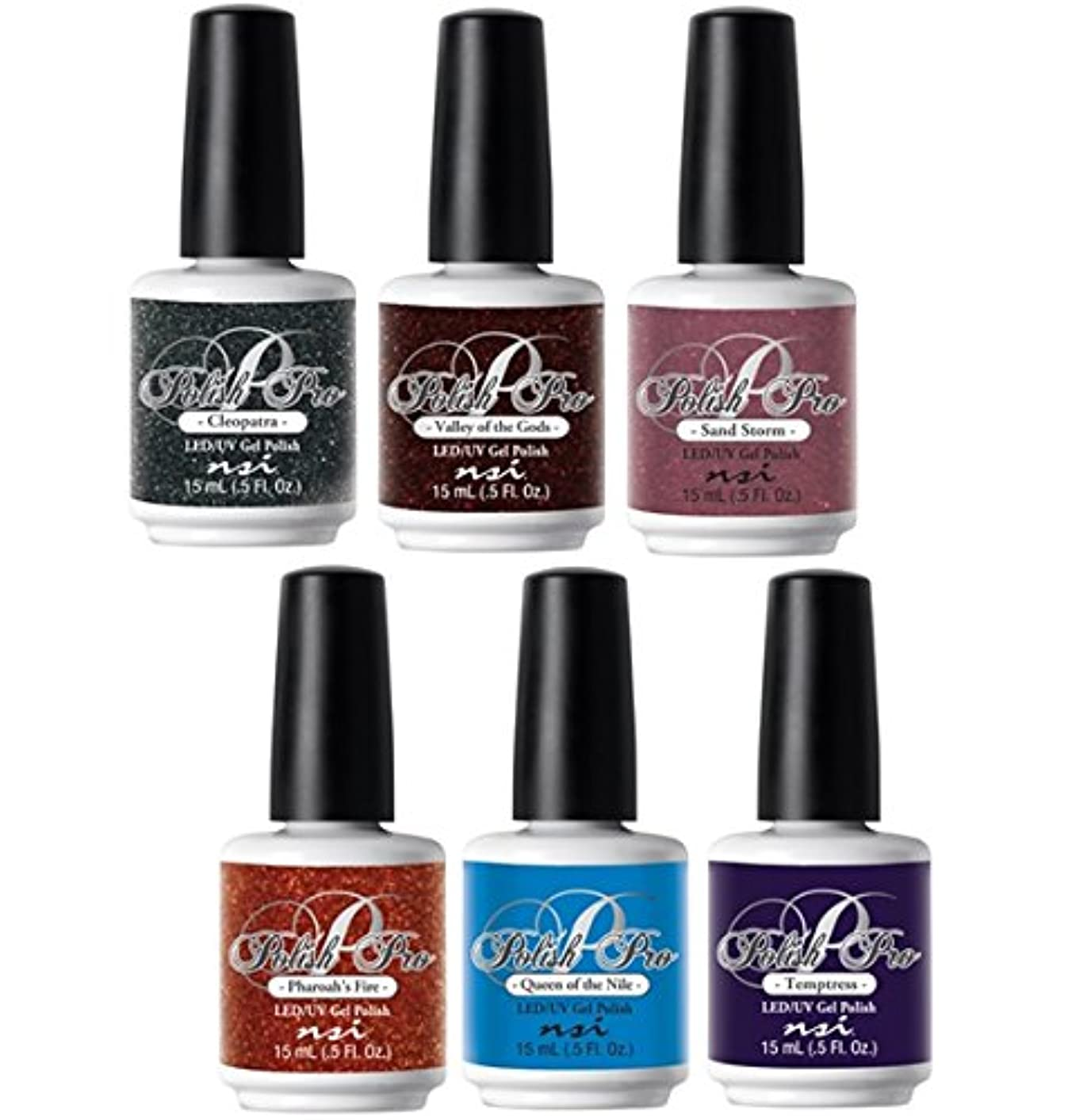 スポット鳥夜NSI Polish Pro Gel Polish - Egyptian Goddess Collection - All 6 Colors - 15 ml/0.5 oz Each
