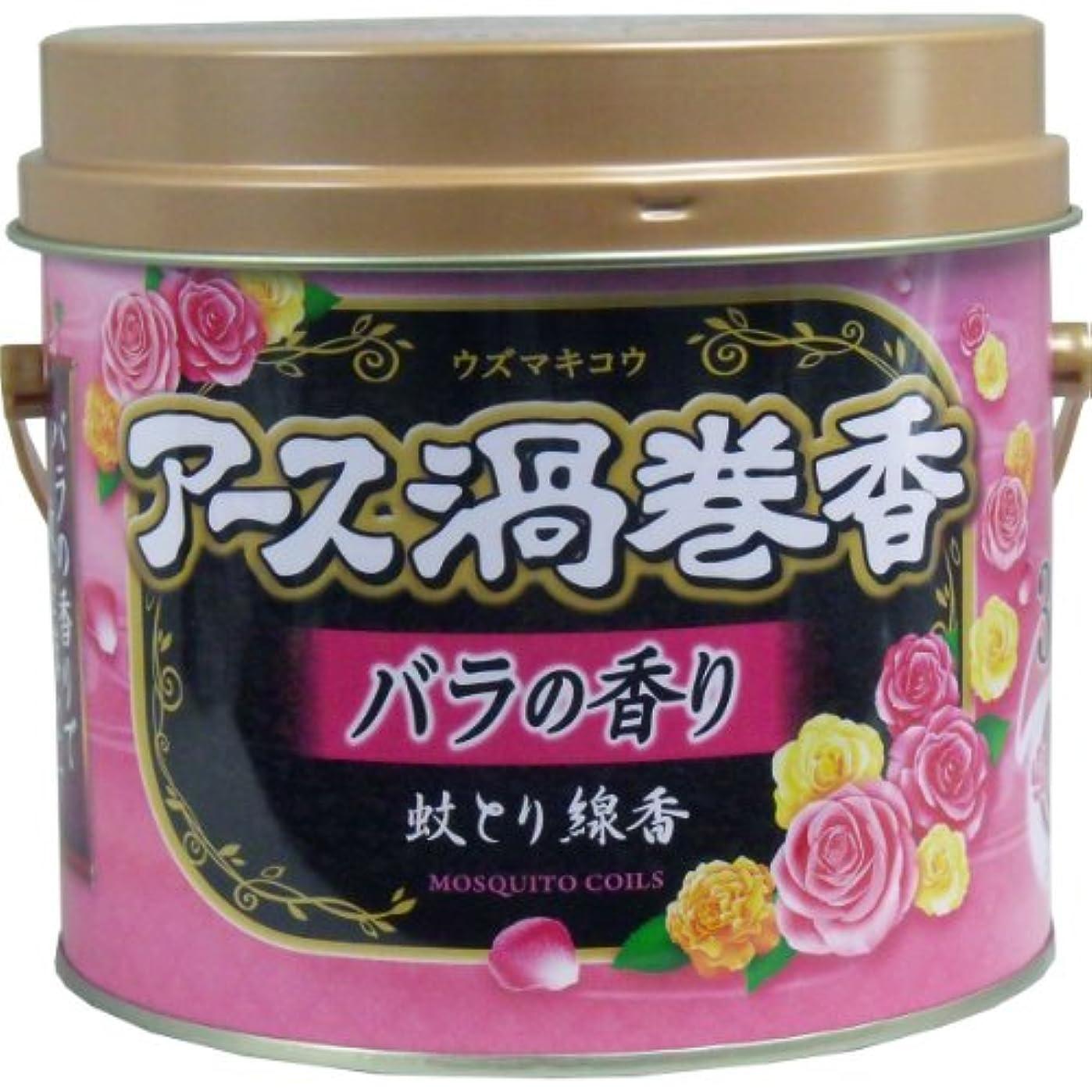 にじみ出る感情の確実アース渦巻香 蚊とり線香 バラの香り 30巻 3個セット