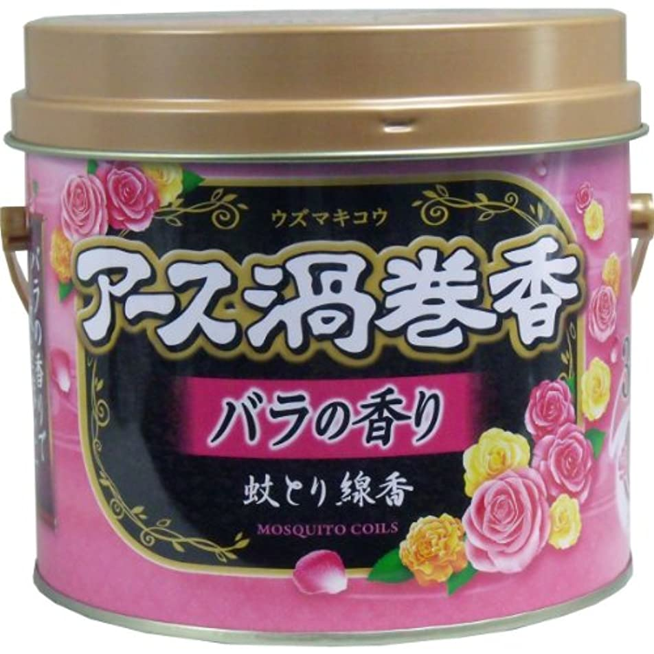 欺味アラートアース渦巻香 蚊とり線香 バラの香り 30巻 2個セット