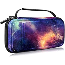 Fintie Carry Case for Nintendo Switch - [Shockproof] Hard Shell Protective Cover Portable Travel Bag w/10 Game Card Slots and Inner Pocket for Nintendo Switch Console Joy-Con & Accessories, Galaxy