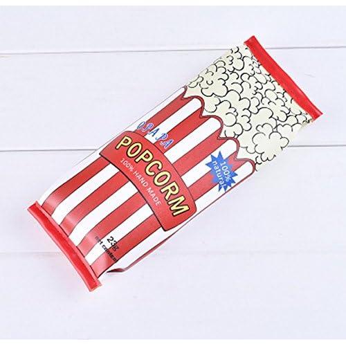[ MT On&Do ] ペンケース 筆箱 ペン入れ お菓子パッケージ風 おもしろ ユニーク かわいい 個性 唯一 ポップ 収納 大容量 (ポップコーン)