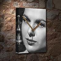 MARTHA HYER / マーサ・ハイヤー - キャンバスクロック(大A3 - アーティストによって署名されました) #js001