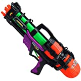 夏の水鉄砲子供の水鉄砲のおもちゃのバックパック水鉄砲ビーチのおもちゃプレイ水鉄砲夏の熱いおもちゃ水鉄砲 ( Color : Green , Size : L )