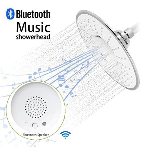 Morpilotバスルーム Bluetooth スピーカー付き音楽シャワーヘ...