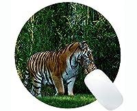 円形のマウスパッドの習慣、ステッチされた端が付いているユーモアトラの円形のマウスパッド