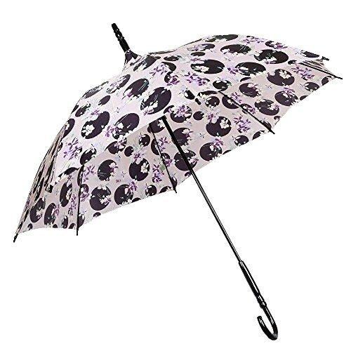 【ANNA SUI】アナスイ 日本製 ドット×フラワー 婦人長傘(雨傘) ピンク