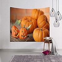 ハロウィン タペストリー インテリア 多機能 祝日 壁飾り 部屋/窓カーテン 模様替え かぼちゃ 間仕切り 簡単撮影用 祝い装飾布 プレゼント おしゃれ 壁掛けタペストリー 150*130cm Halloween-01