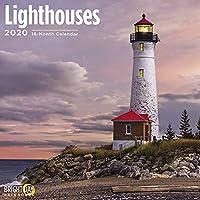 Bright Day Calendars 2020 灯台カレンダー 16ヶ月 12 x 12 壁カレンダー 12 inch x 24 inch