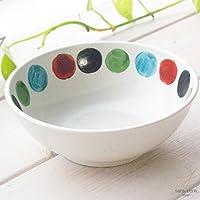 手描き色絵 オーバーグレーズ 小鉢 プチボール (ビー玉ドット) 水玉