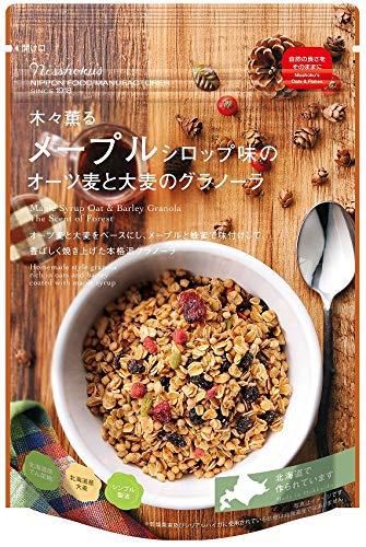 日食 メープルシロップ味のオーツ麦と大麦のグラノーラ 240g×8個