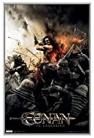 Conan the Barbarian額入りポスター–品質シルバーメタルフレーム22x 34