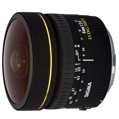 SIGMA 単焦点魚眼レンズ 8mm F3.5 EX DG CIRCULAR FISHEYE シグマ用 円周魚眼 フルサイズ対応 485405