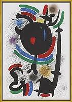 フレーム Joan Miro ジクレープリント キャンバス 印刷 複製画 絵画 ポスター (構成1972)