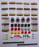【ノーブランド品】電子部品 LED トランジスタ コンデンサ ブレッドボード 詰め合わせ セット