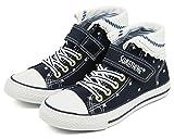 (サムシング エドウィン) SOMETHING EDWIN 子供靴 ハイカットスニーカー キッズ 女の子 ジュニア SOM-3026 ネイビー 22cm